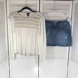 Jeans skirt FREE shirt